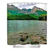 Beauvert Lake In Jasper Np-ab Shower Curtain