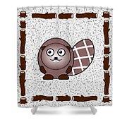 Beaver - Animals - Art For Kids Shower Curtain