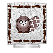 Beaver - Animals - Art For Kids Shower Curtain