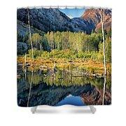 Beaver Lake Sierra Nevada Mountains Shower Curtain
