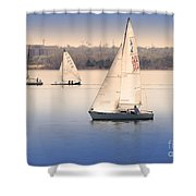 Becalmed Shower Curtain