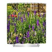 Becker Vineyards' Flower Garden Shower Curtain
