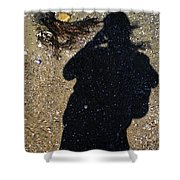 Becoming One With The Beach Stones Shower Curtain