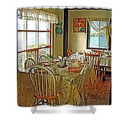 Bed And Breakfast Over The Water At Fishing Point In Saint Anthony-nl Shower Curtain
