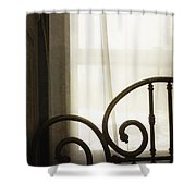Bed By The Window Shower Curtain