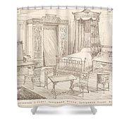 Bedchamber Furniture In The Japanese Shower Curtain