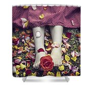 Bedded In Petals Shower Curtain