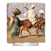 Bedouin Family Travels Across The Desert Shower Curtain