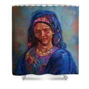 Bedouin Woman Shower Curtain
