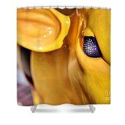 Bee Bullseye Shower Curtain