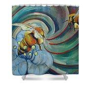 Bee Friends Shower Curtain