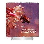 Bee Haiku Shower Curtain