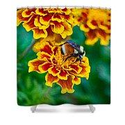 Bee My Friend Miss Marigold Shower Curtain