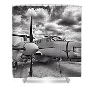 Beechcraft C-12 Huron Shower Curtain
