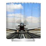 Beechcraft T-6a Texan II -  Shower Curtain