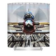 Beechcraft T-6a Texan II D Shower Curtain