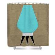 Beehive Lamp Turquoise Shower Curtain