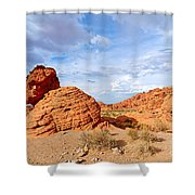 Beehive Rock Formation Under A Stormy Sky In Nevada Valley Of Fire State Park Shower Curtain