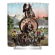 Beer Ad C1870 Shower Curtain