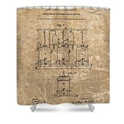 Beer Brewery Patent Illustration Shower Curtain