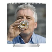 Beer Drinker Shower Curtain