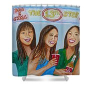 Beer Pong Champs Shower Curtain
