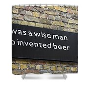 Beer Sign Shower Curtain