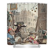 Beer Street, Illustration From Hogarth Shower Curtain