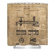 Beer Tap Patent Shower Curtain
