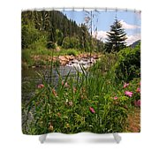 Bees Eye View Shower Curtain