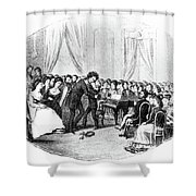 Beethoven & Liszt, 1823 Shower Curtain