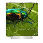 Beetle Shower Curtain