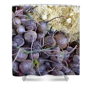 Beets And Mini Onions At The Market Shower Curtain