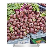 Beets At The Farmers Market Shower Curtain