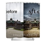 Before And After Shower Curtain by Edward Fielding