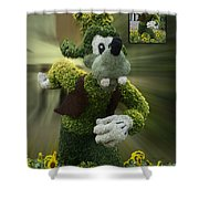 Before And After Sample Art 26 Goofy Shower Curtain