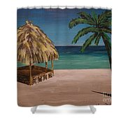 Before Hours Shower Curtain