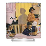 Before School Shower Curtain
