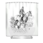 Before The Hunt Shower Curtain