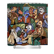 Before The Last Supper Shower Curtain