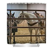 Before The Rodeo Shower Curtain