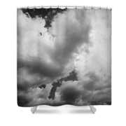 Before The Storm Clouds Stratocumulus 5 Bw  Shower Curtain