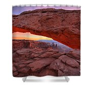 Before The Sun Shower Curtain