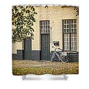 Begijnhof Bicycle Shower Curtain