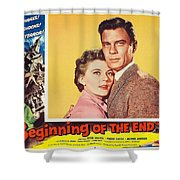 Beginning Of The End 1957 Shower Curtain