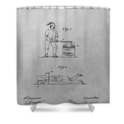 Beheading Block And Axe Shower Curtain