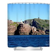 Behind Fort Amherst Rock 2 By Barbara Griffin Shower Curtain