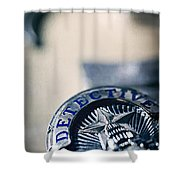 Behind The Badge Shower Curtain