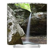 Behind The Boulders Shower Curtain