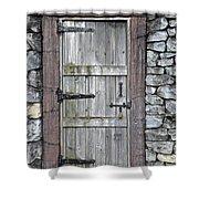 Behind The Door Shower Curtain